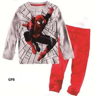 Disney Cartoon Superman Spiderman Minnie Boy Girls Kids Pyjamas nightwear