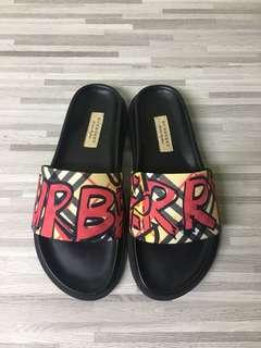 Burberry slippers graffiti design