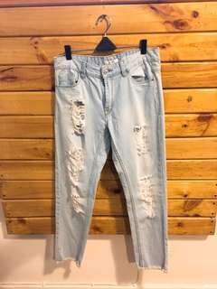 Steadivarius jeans rebel blue