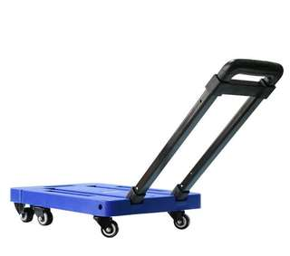 Six-wheeled folding flatbed wheel cart Small portable pull-pull trolley