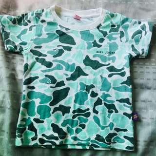 Baby jordan camouflage shirt size 2