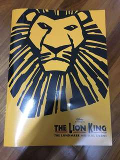 The Lion King musical programme booklet