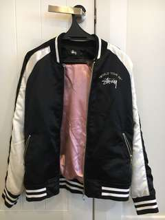 Stussy reversible graphic bomber jacket