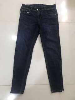 Zara Dark Blue Skinny Jeans