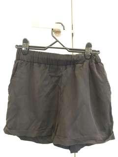 Black material shorts