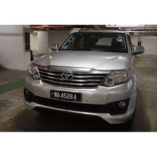 Toyota Fortuner 2014 2.7 V A/T