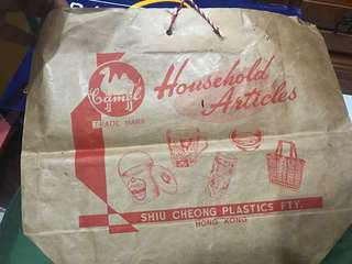 Vintage Plastic Bag
