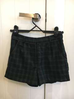 Tartan high waisted shorts