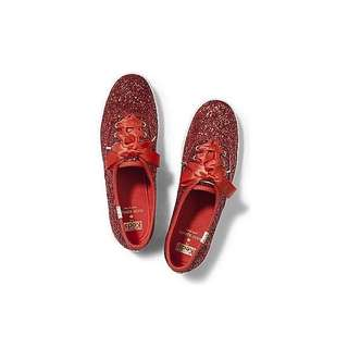 Keds shoes x kate spade glitter cherry red