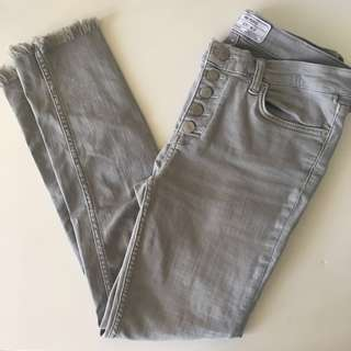 Free People grey jeans with details
