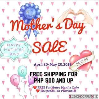 Free Shipping Mother's Day Sale