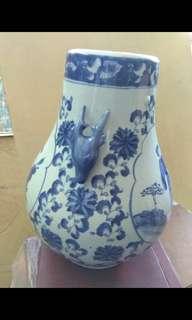 双鹿青花禄瓶Porcelain Vase