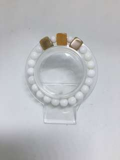 New Tridacna with colored Jade Bracelet