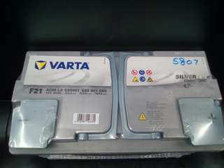 Car Battery Varta AGM Battery LN4 80AH 800CCA.                 要买就买有品质保证的货品👍                                                             Get quality goods👌                                                                                  Cash and Carry