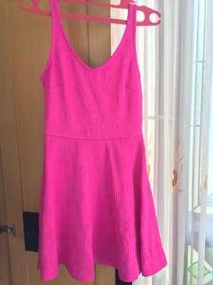 F21 shock Pink dress