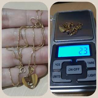 Authentic 18k Saudi Gold Necklace