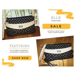 Authentic Mothers Day Elle Fabric Clutches and Wristlets