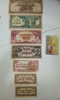 马来西亚旧款的香蕉钱一套⭐值得收藏稀少   !