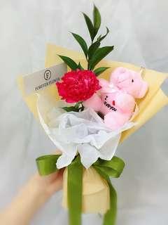 Carnation flower (with bear optional)
