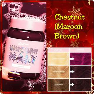 Lime Crime UNICORN HAIR FULL COVERAGE  chestnut (maroon brown)
