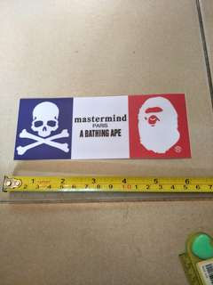 Mastermind/Bathing ape stickers