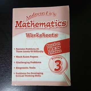 P3 - Andrew Er's Maths Worksheet
