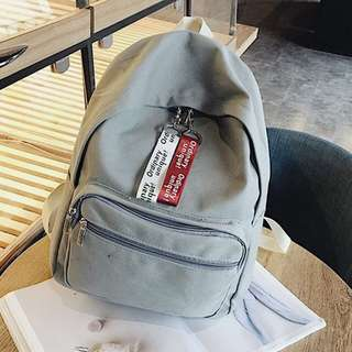 [BN] Grey Korean Backpack w Red and White Tags