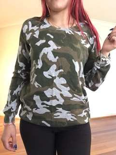 Including post- sports girl camo jumper XS