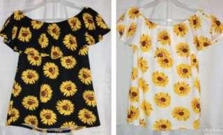 Sun Flower Layered Off Shoulder