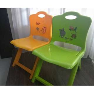 2x Children Kids Foldable Chair