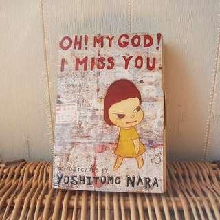 無奈美智Nara Yoshitomo Oh my god I miss you postcard set明信片一套30張
