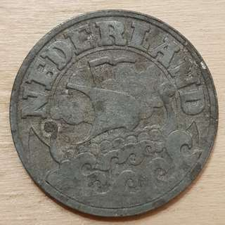 1941 Germany Occupied Netherlands 25 Cents Coin