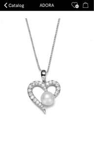 Swarovksi Heart Shape Pearl Necklace