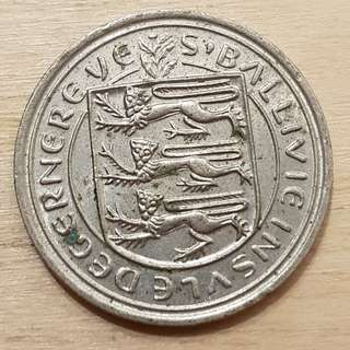 1982 Guernsey, Great Britain 5 Pence Coin