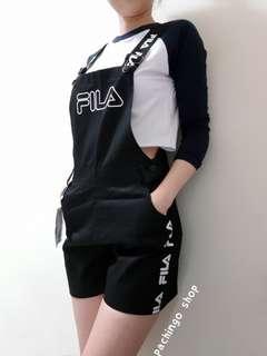FILA Logo串標吊帶褲