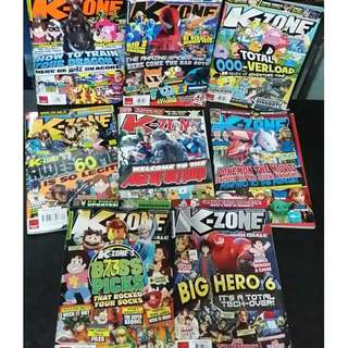 Set of 8 K-Zone Back Issues