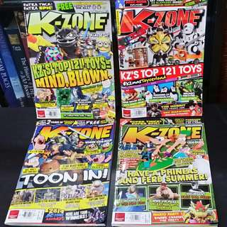 Set of 4 K-Zone Back Issues