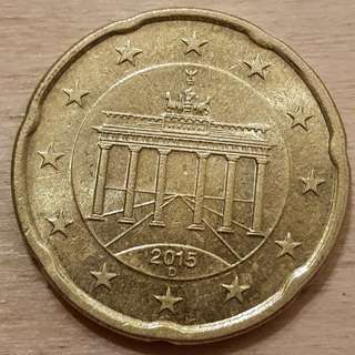 2015 Euro 20 Cents Germany Design