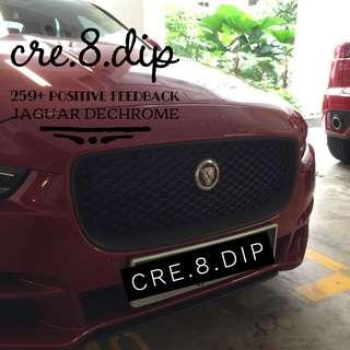 Jaguar Dechrome plasti dip plastidip