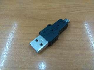 全新 USB Male 轉 Mini USB