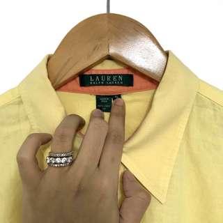 LAUREN by RALPH LAUREN Pale Yellow Button-down