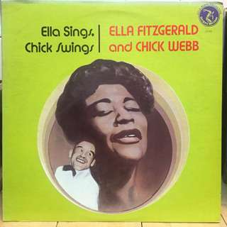 Ella Fitzgerald and Chick Webb vinyl lp