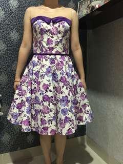 flower semi ball gown dress