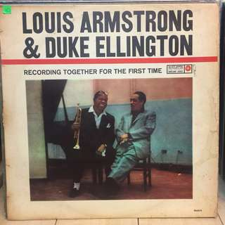Lousi Armstrong and Duke Ellington vinyl lp
