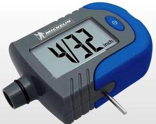Digital Tire pressure gauge and thread depth tool