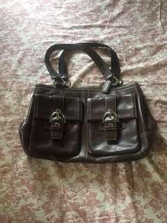 COACH (chocolate brown bag)