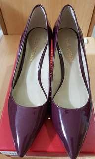 🚚 ENZO ANGIOLINI (NINE WEST專櫃)跟鞋 酒紅色 紅紫色 OL