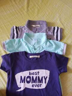 BABY POLO SHIRTS & T SHIRT ( 3 for 250php)