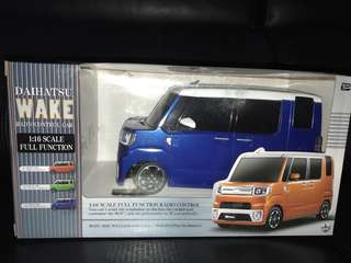 Daihatsu wake remote toy car - blue