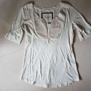 Abercrombie&Fitch寬鬆舒適棉質上衣-M號